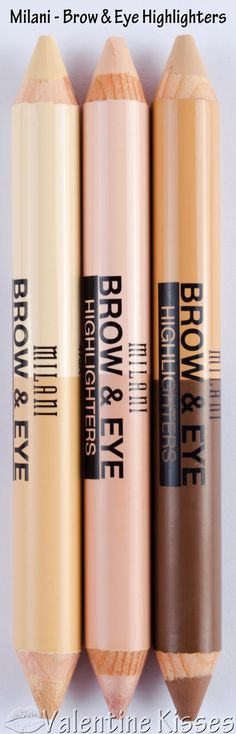 Milani Brow & Eye Highlighters - 3 shade duos - pics, swatches, review