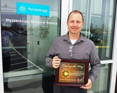 Our thanks to Thyssen Krupp Bilstein in Hamilton - a Silver partner in the CBC LifeSaving Ambassadors Club for 2015. Blood drive coordinator Jim Fogle accepted the award. ThyssenKrupp has been a CBC partner since August 2013 when Jim first developed blood drives as part of the company's wellness program. ThyssenKrupp employee donors have exceeded the collection goal of every blood drive. #ThyssenKrupp Bilstein now hosts four blood drives a year.