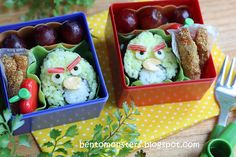 Angry Birds Bento  IMG_9216 by bentomonsters, via Flickr