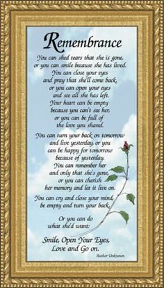 "Save $1.05 on Sympathy Poem Remembrance for Female - 4.5"" X 8"" with Built in Easel; only $10.95"