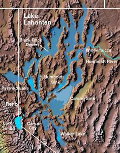 Ancient Lake Lahontan in northern Nevada.  Honey Lake is a remnant.