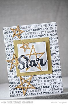 Count the Stars stamp set and Die-namics, Lucky Stars Die-namics, Stitched Square Frames Die-namics, Zig Zag Stitched Squares STAX Die-namics - Keisha Campbell #mftstamps
