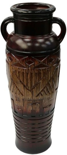 Rammento 60cm Tall Floor Standing Wood Grain Effect Roman Flower Vase With Handl #Rammento Flower Vases, Flowers, Art Deco Fashion, Wood Grain, Roman, Grains, Flooring, Home Decor, Ebay