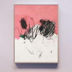 ADESSO NO - Malerei, 6.042x42 cm ©2018 von Luc PIERRE - Abstrakte Kunst, Konzeptkunst, Papier, Abstrakte Kunst, Farben