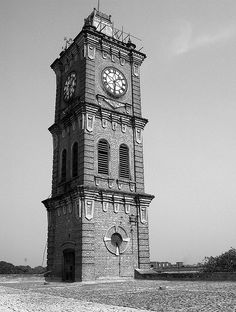 clock tower of cawnpore woolen mills. one of the landmark of kanpur, india     http://viettelidc.com.vn