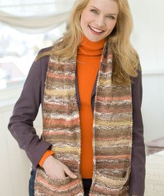 Free Knitting Patterns For Scarves With Pockets : Red Heart Yarns Free Patterns on Pinterest