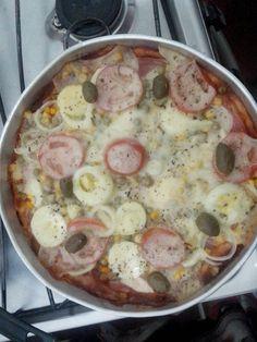 Pizza de liquidificador - Poliana