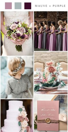 Mauve is probably one of my favorite shades of purple. It's a gorgeous, muted shade of light purple that has a slight tinge of grey. Lavender Wedding Colors, Dark Purple Wedding, Indigo Wedding, Gray Wedding Colors, Mauve Wedding, Summer Wedding Colors, Wedding Trends, Wedding Ideas, Mauve Color