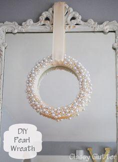 DIY Pearl Wreath http://www.bjcraftsupplies.com/beads/pearl01.asp