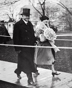 The new President Hoover and First Lady going to their new home in the White House, March 4, 1929