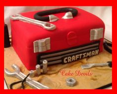 Red ToolBox Cake