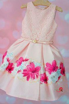 Vestido de Festa Infantil Rosa Azaléia Petit Cherie