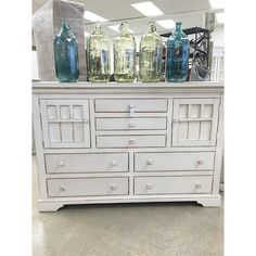 "Lots of beautiful painted furniture - brand new / custom built / antiques re-done This dresser is $659  60"" long 40"" tall  #homedecorating #homedecor #prettyinpaintstore #paintedfurniture by prettyinpaintstore"