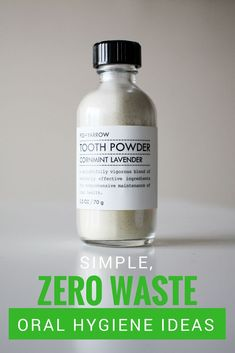Super easy, effective, and unknown ingredient free zero waste oral hygiene ideas! Zero waste bathroom inspiration!