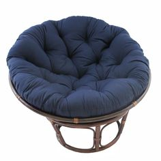 International Caravan 42-Inch Rattan Papasan Chair with Solid Twill Cushion 3312-TW Relax in comfort and style with this papasan chair and cushion. Its spacious 42-inch design provides plenty of room