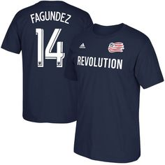 Diego Fagúndez New England Revolution adidas Male Adult 2017 MLS Player Name and Number T-Shirt - Navy