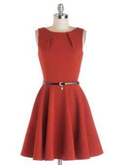 Luck Be a Lady Dress in Pumpkin   Mod Retro Vintage Dresses   ModCloth.com