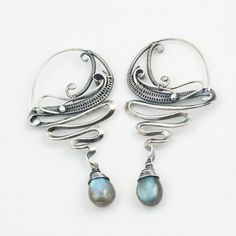 "Labradorite Earrings by Sarah n Dippity. ""Pretty"""