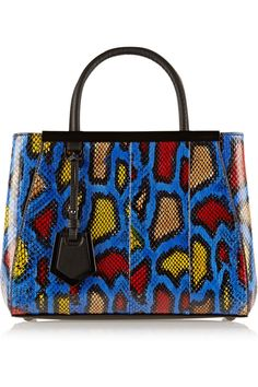 Fendi | 2Jours small printed watersnake shopper | NET-A-PORTER.COM