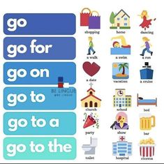 Go and its phrasals English Help, English Fun, English Writing, English Study, English Lessons, English Tips, Learning English For Kids, Teaching English Grammar, English Vocabulary Words