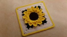 "CROCHET How To #Crochet #Sunflower Granny Square 10""   TUTORIAL #326 sup..."