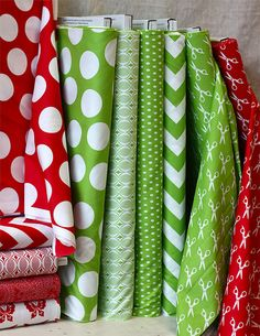 Pretty polka dots...awesome stocking material!