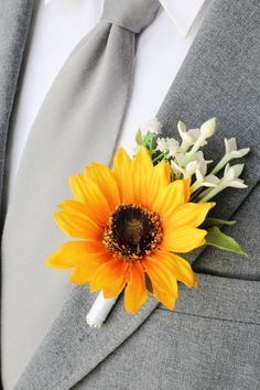 Horizon Davids Bridal Sunflower Wedding Flowers
