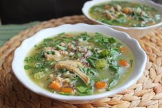 Chicken Quinoa and Brown Rice Soup - Jamie Cooks It Up - Family Favorite Food and Recipes