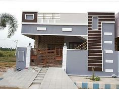 Independent House built-in 1000 square feet north facing, pop ceiling, vitrified tiles flooring, front elevation, wall care with emulation Bungalow Haus Design, Duplex House Design, Independent House, Village House Design, Kerala House Design, Single Floor House Design, Small House Design, North Facing House, Indian House Plans