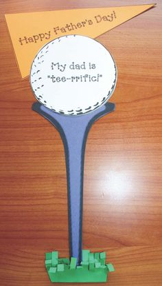 Fathers Day Golf Tee Card, fathers day cards, fathers day gifts, fathers day ideas, fathers day crafts, fathers day writing prompts, golf crafts, golf cards for dad, june writing prompts, end of the year activities
