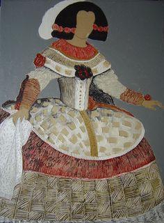Cuadro pintura  Menina My Works, Pop Art, Art Projects, Disney Characters, Fictional Characters, Embroidery, Christmas Ornaments, Disney Princess, Canvas