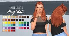 Lana CC Finds - friskeysims Simple Simmer's Aloy Hair - A...