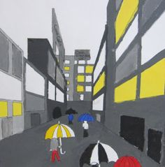 Art lessons from Belgium: Under an umbrella