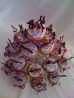 Image detail for -bridal shower cupcake tower Bridal Shower Cupcakes, Wedding Cakes With Cupcakes, Cupcake Cakes, Sweetest Thing, Shower Ideas, Tower, Wedding Ideas, Detail, Board