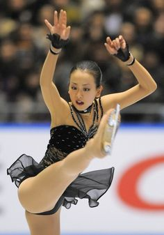 "Mao Asada, during the step sequences of her Long Program -  ""Waltz from Masquerade Suite"" by 'Aram Khachaturian', Choreographed by Tatiana Tarasova.. at the 2008 Grand Prix Series NHK Trophy which Mao again Won! ・ 2008.11.29 ・ Photo by: 手塚耕一郎"