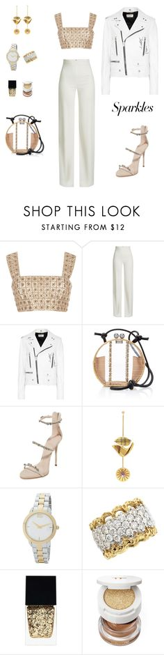 """#PolyPresents: Sparkly Beauty"" by sebolita ❤ liked on Polyvore featuring beauty, Burberry, Brandon Maxwell, Yves Saint Laurent, WAIWAI, Giuseppe Zanotti, Roksanda, Kenzo, Witchery and Tom Ford"