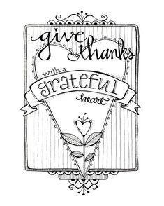 Epic Being Thankful Coloring Pages 98 Give Thanks Grateful Heart