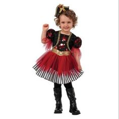 Toddler Girl Treasure Island Pirate Costume by Rubies 610846, Multicolor