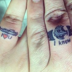 Just a thought. For the future. If I ever get married. Star Wars ring tattoos