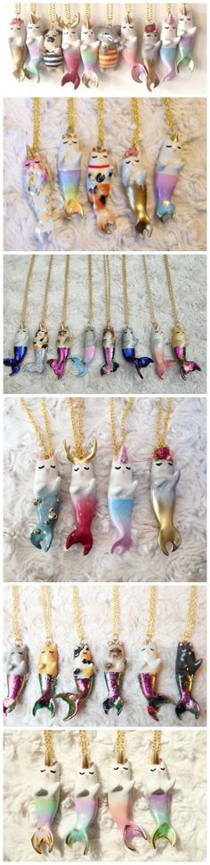 You Can't Help But Smile At Purrmaid Necklaces