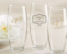 Personalized 9 oz. Stemless Champagne Glass – Classic collection by Kate Aspen