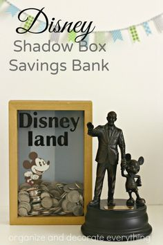 Disney Shadow Box Savings Bank helps motivate kids to save for Disneyland trip