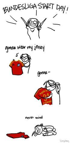 Bundesliga started today -- I still need to buy myself a jersey ;w;