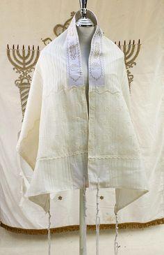 Wedding Shawl Tallit Bridal Cover Up Tallit of Ivory