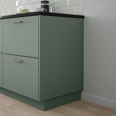 IKEA - BODARP, Cover panel, gray-green, Choose a cover panel in the same finish as your door for a uniform expression, or mix and match to suit your taste. Read about the terms in the Limited Warranty brochure. Plastic Foil, Dish Detergent, Green Cabinets, Scandinavian Kitchen, Green Kitchen, Condo Kitchen, Cabinet Colors, Küchen Design, Decorating Kitchen