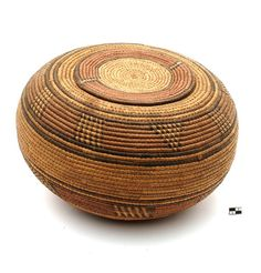Africa | Lidded basket from the Hausa people.  West Africa | 20th century