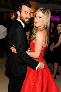 Justin Theroux and Jennifer Aniston, 2013 Vanity Fair Oscar Party