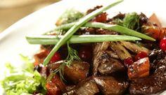 Tagliata di manzo con boscaiola di funghi Food, Dinner, Meal, Eten, Meals