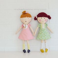 Etsy の Posie doll pdf pattern/tutorial by charlaanne