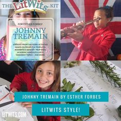 Have straight-from-the-story fun with Esther Forbes' JOHNNY TREMAIN!   (As a LitWits member for just $9/month, you could choose this as one of your FREE monthly LitWits Kits.)  #readforfunlearnforlife